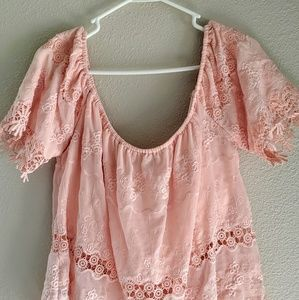 Tops - I Jeans By Buffalo Pink Crop Top